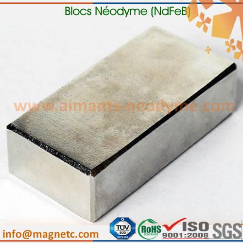 aimant bloc au néodyme revêtu nickel-cuivre-nickel