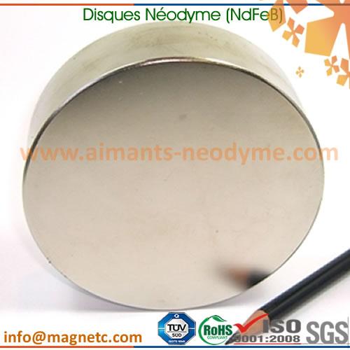 aimants disques au néodyme (NdFeB) grands