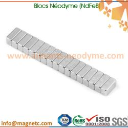 aimants permanents néodyme-fer-bore blocs
