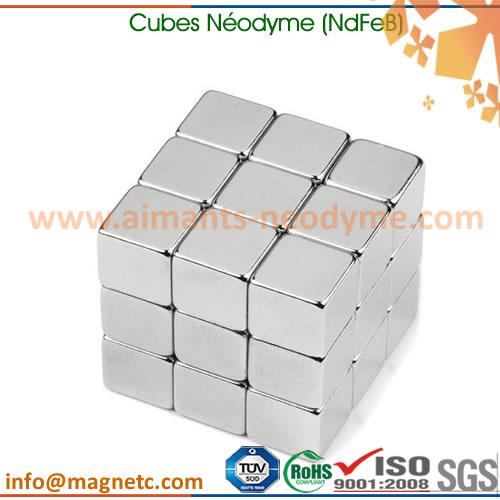 aimant NdFeB cube fritté