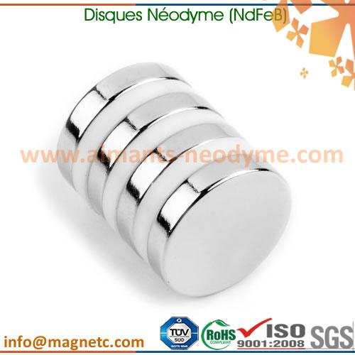 aimant néodyme-fer-bore disque rond